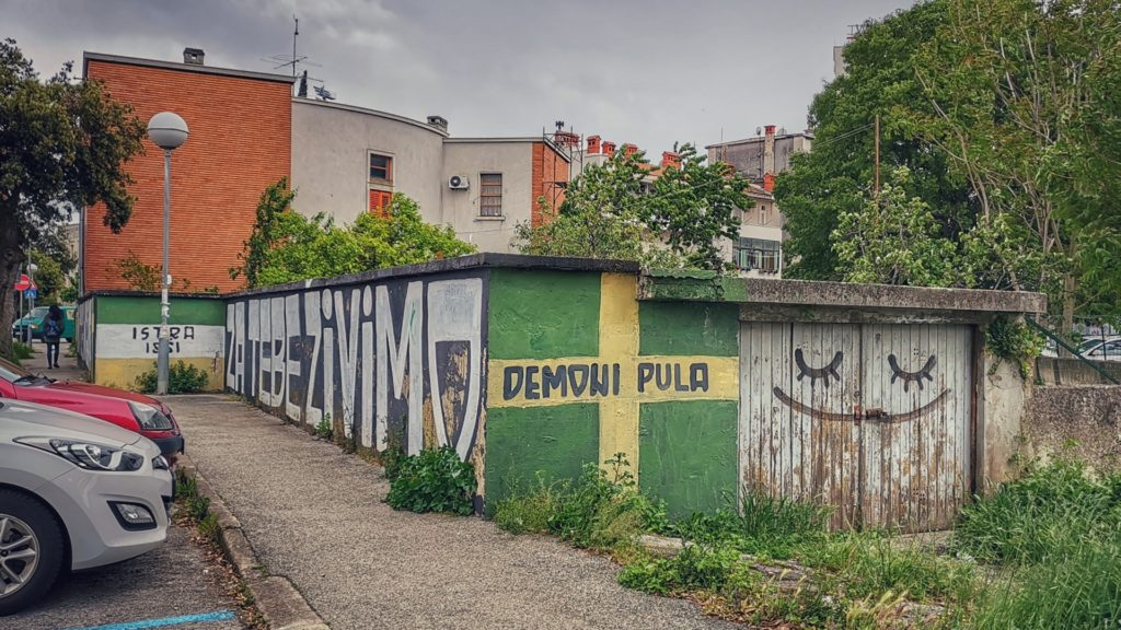 Pula Istra Fußball Graffiti