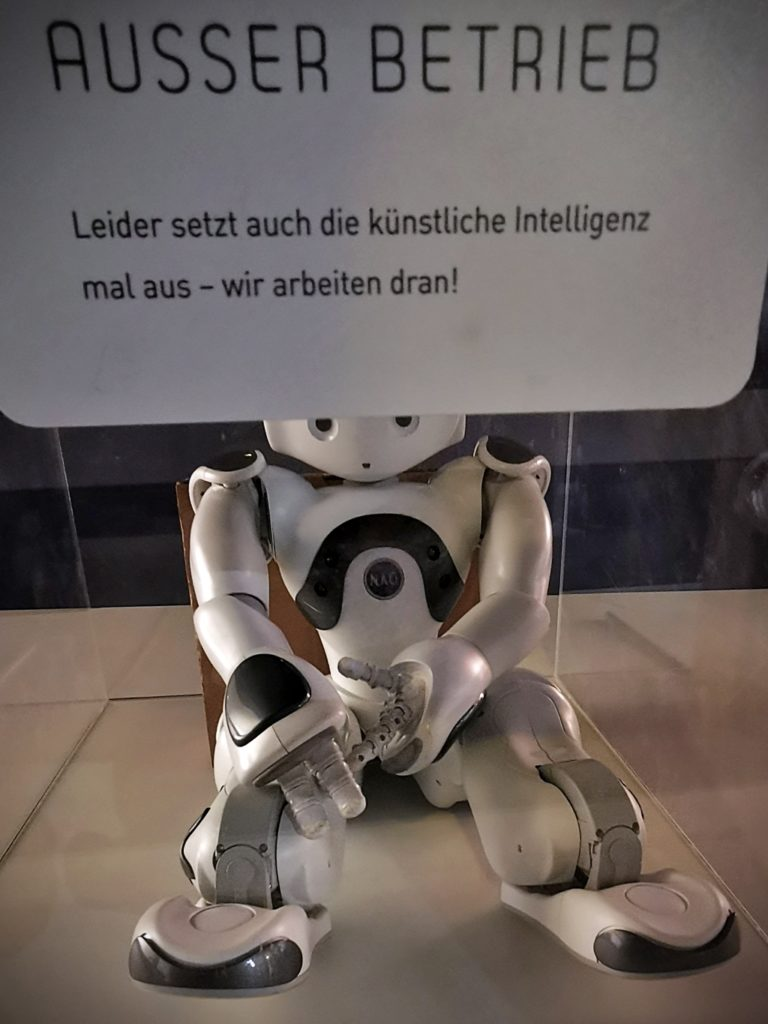 Ein Roboter macht Pause (Benanza Pix)