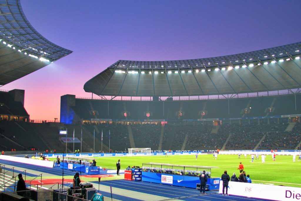 Olympia Stadion Berlin Flutlicht