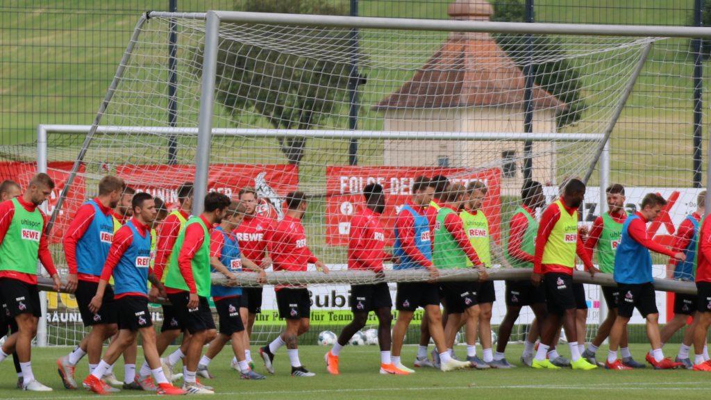 1. FC Köln Mannschaft Tor Training
