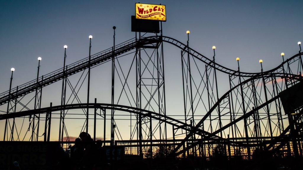 Rollercoaster Achterbahn Freizeitpark