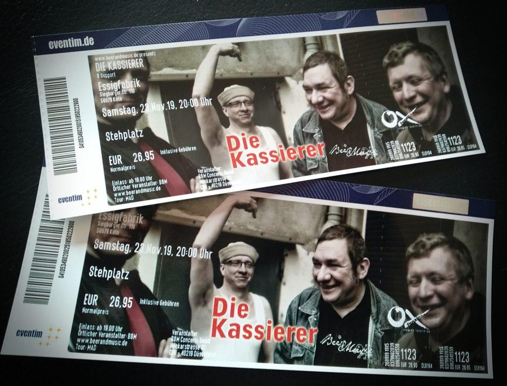 Die Kassierer Live in der Essigfabrik (Foto: Ulf Meier-Jankuhn / Benanza.Pix)