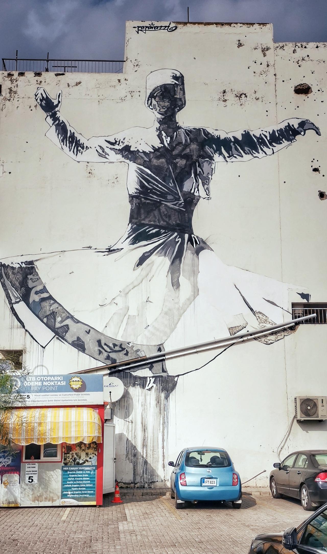 Hauswand Streetart Nikosia Benanza Pix