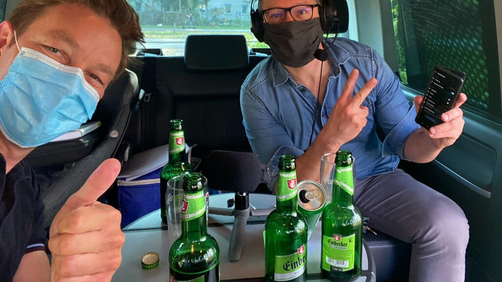Ben Cartwright und Karl-Heinz Ballermann Gesichtsmaske Podcast VIDP